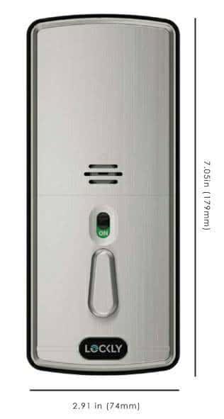 รูปด้านหลัง digital door lock lockly แบบ deadbolt
