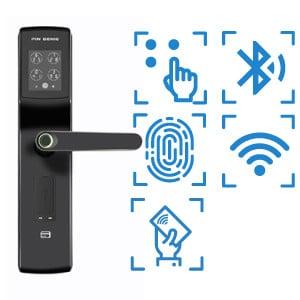 digital door lock รุ่น luxรองรับbluetooth pincode แสกนลายนิ้วมือ และ OAC