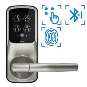 digital door lock รุ่น latch 628 รองรับbluetooth pincode แสกนลายนิ้วมือ และ OAC
