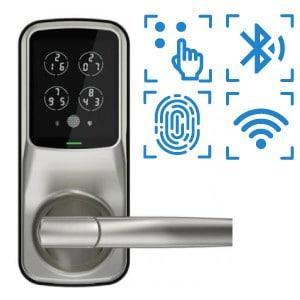 digital door lock รุ่น pro latch 628 รองรับbluetooth pincode แสกนลายนิ้วมือ, OAC และไวไฟ